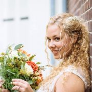 bruid Bruidskapsel bruidsmake-up