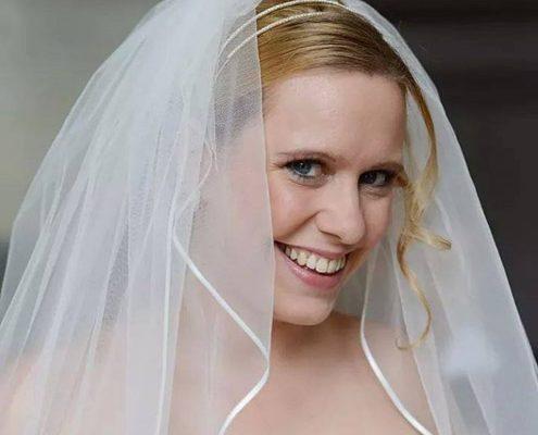 Bruidskapsels met sluier