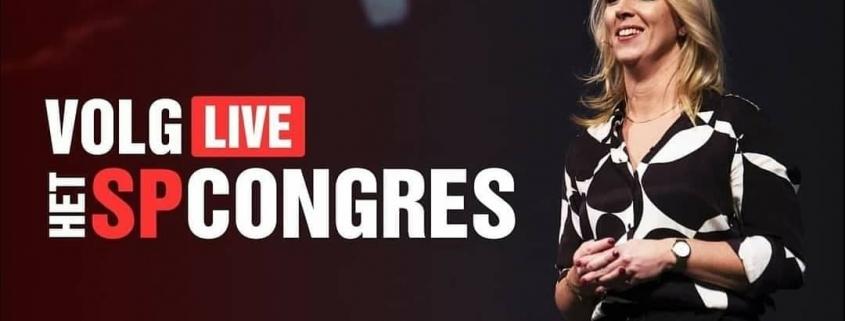 Visagie voor een online congres van de politieke partij SP